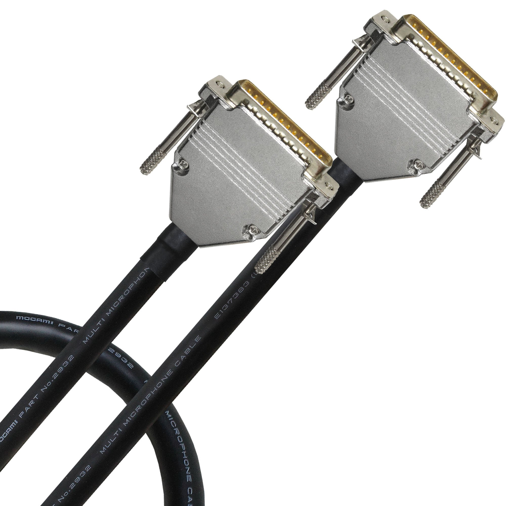 3 Foot - Balanced Analog Snake Cable CUSTOM MADE By WORLDS BEST CABLES – using Mogami 2932 wire & Eminence E800 Gold D-SUB DB25 Plugs