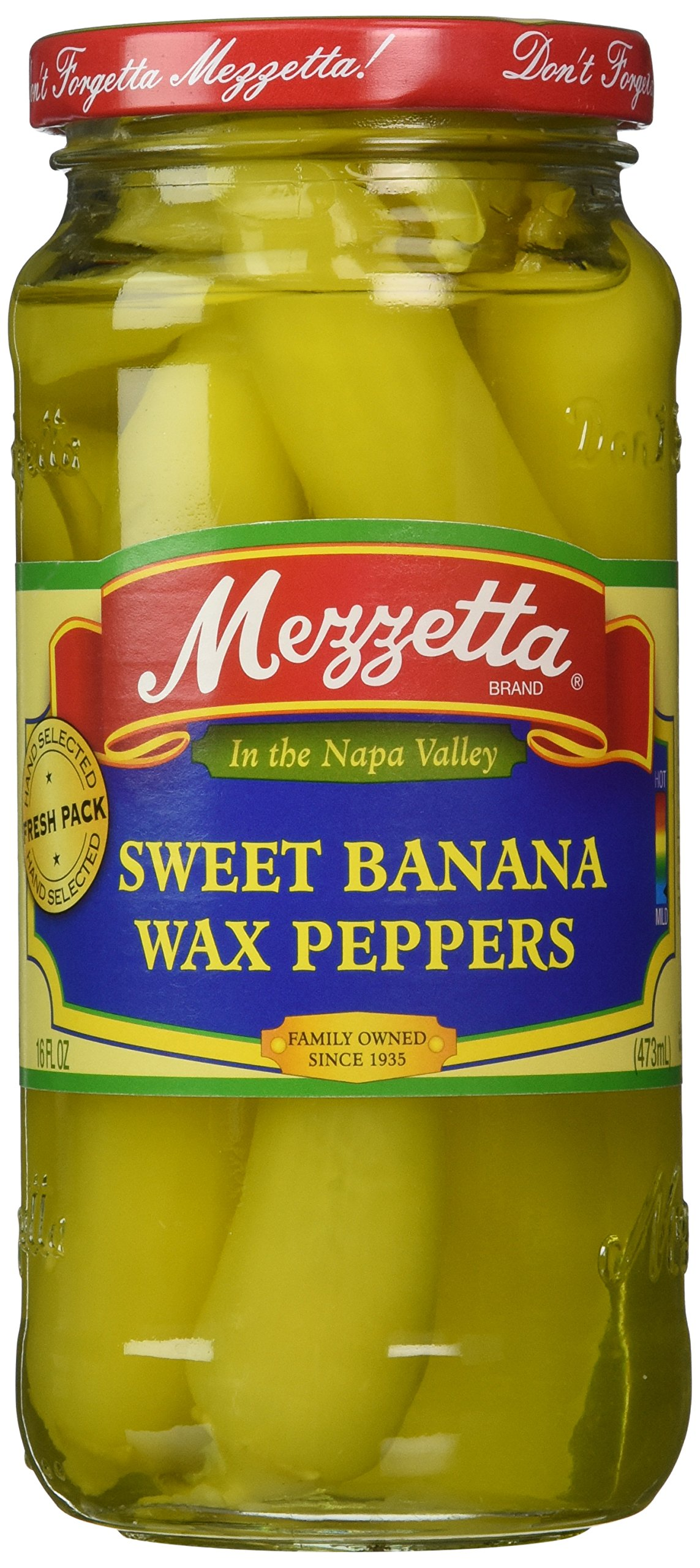 Mezzetta Pepper Sweet Banana Wax, 16 oz