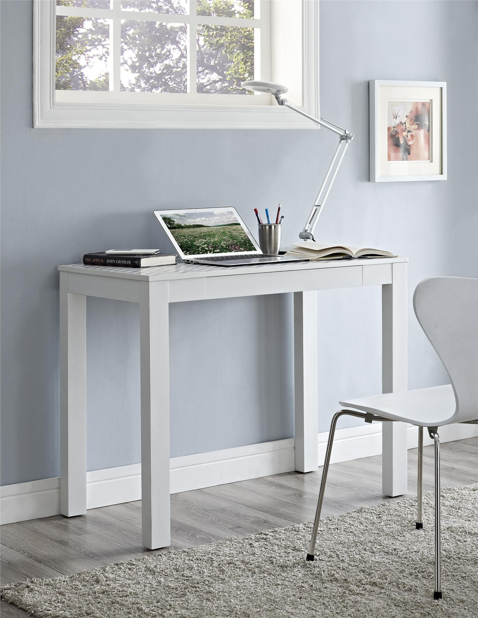 Ameriwood Home Parsons Desk Drawer, White/Gray Chevron by Ameriwood Home (Image #2)
