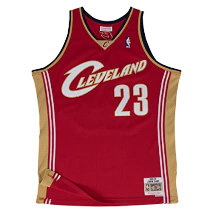9c8b1027f Lebron James Cleveland Cavaliers Mitchell and Ness Men s Red Throwback  Jesey 5X-Large