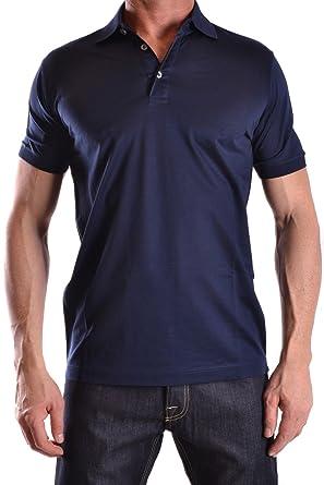 Dalmine Herren Mcbi085010o Blau Baumwolle Poloshirt