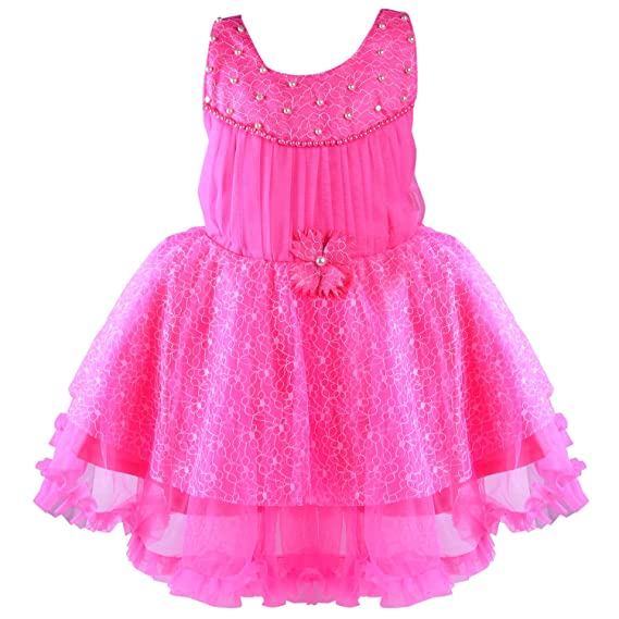 f02508792 Wish Karo Baby Girls Net Party Wear Frock Dress - (bx57pnk)  Amazon ...
