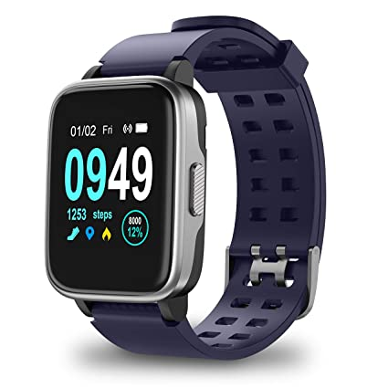 Updated 2019 Version Smart Watch for Android iOS Phone, Activity Fitness Trackers Health Exercise Watches with Heart Rate, Sleep Monitor and Calorie ...