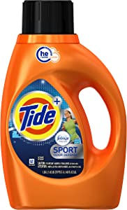 Tide Plus Febreze Freshness Sport High Efficiency Liquid Laundry Detergent - 46 oz - Active Fresh