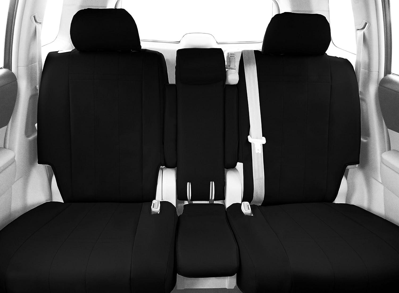 DuraPlus Black CalTrend Front Row 40//20//40 Split Bench Custom Fit Seat Cover for Select Chevrolet Silverado//GMC Sierra Models