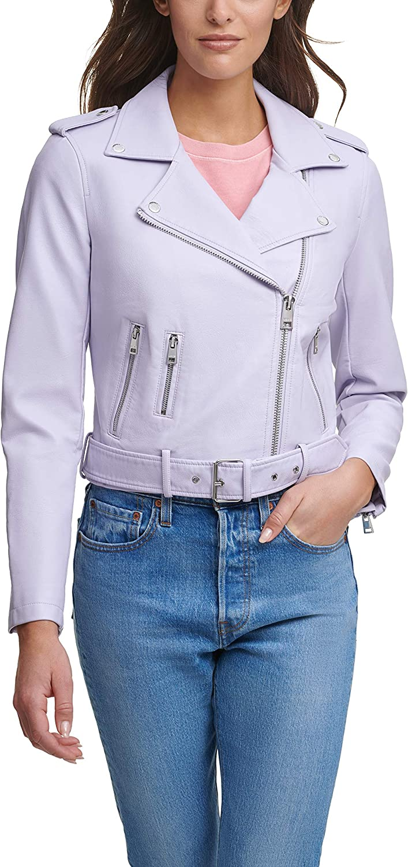 Levi's Faux Leather Asymmetrical Belted Motorcycle Jacket Chaqueta de Cuero sintético para Mujer