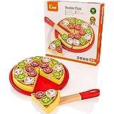 Viga Wooden Take Apart Pizza - Childrens Pretend Play Food Kitchen Toy
