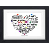 Personalised 3rd BIRTHDAY Word Art Print Picture Gift Number Present Boy Girl