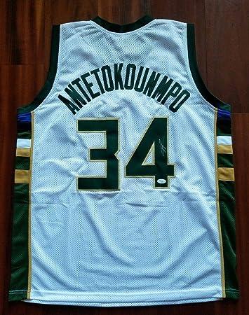 c4da44076 Giannis Antetokounmpo Autographed Jersey - JSA Certified - Autographed NBA  Jerseys