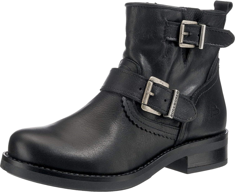 Bullboxer Damen Stiefeletten schwarz-silber 434561E6L-BLCK schwarz 565619