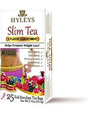 Hyleys Tea Slim Tea, Assorted Pack, 1.32 Ounce, 25 Tea Bags