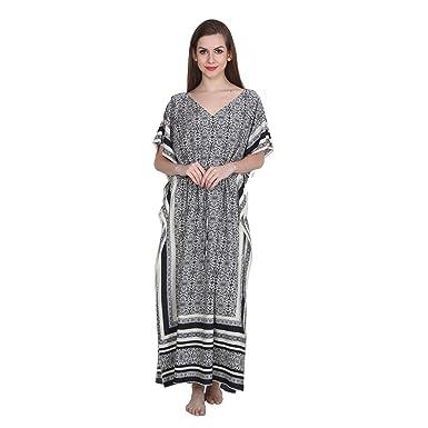 143243295a Patrorna Cotton Silk Blend Women s Kaftan Nighty in Multi-Colour (Size S