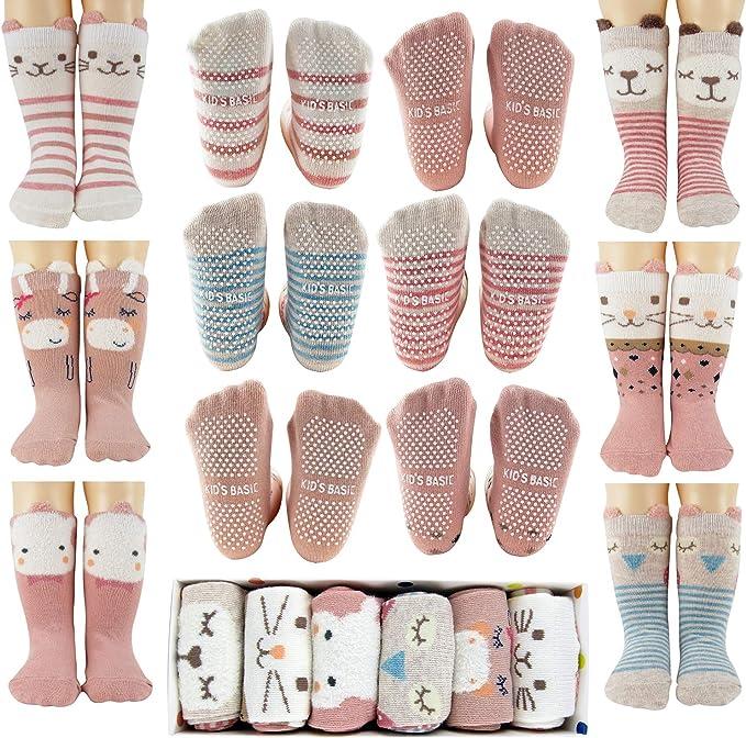 Children Animal Warm Socks Baby Anti-slip Pantyhose Floor Cotton Socks Gift Box