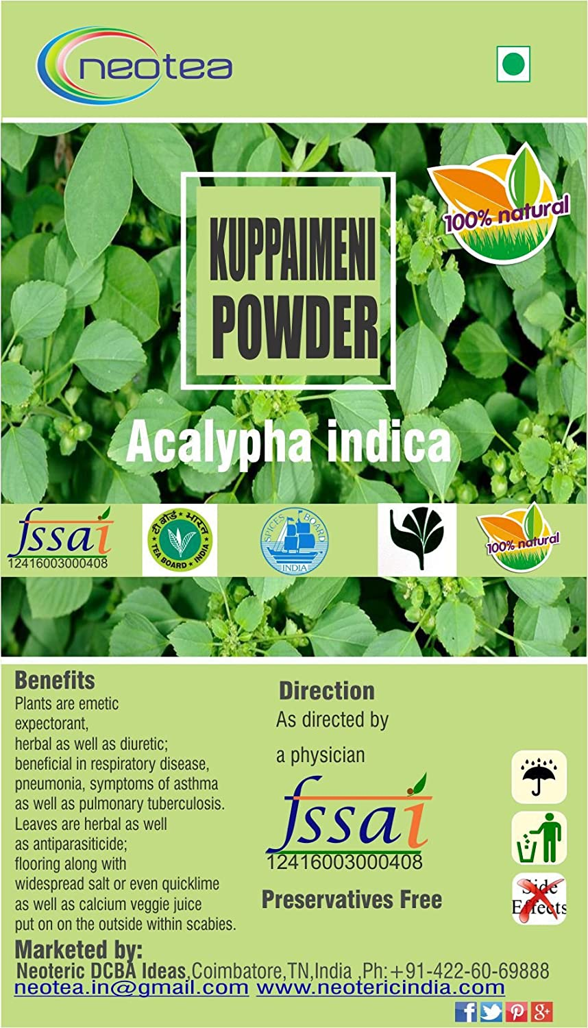 Buy Neotea Kuppaimeni Powder Acalypha Indica 300g Online At Low