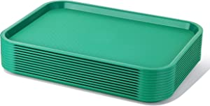 New Star Foodservice 24609 Green Plastic Fast Food Tray, 12 by 16-Inch, Set of 12