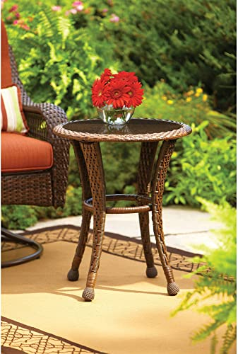 Better Homes and Gardens Azalea Ridge 20″ Round Outdoor Side Table