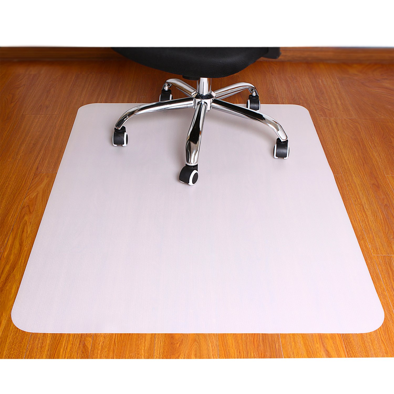 Polytene Office Chair Mat, 47''x35'',Hard Floor Protection with Rectangular Shaped Anti Slide Coating on the Underside,White