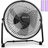 OPOLAR Battery Powered Rechargeable Desk Fan with 6700mAh, Battery Operated USB Fan with Long Working Time, Whisper Quiet, Pe