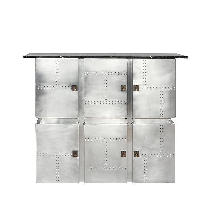 Amazon.com: Acme brancaster Mármol y aluminio mesa alta de ...