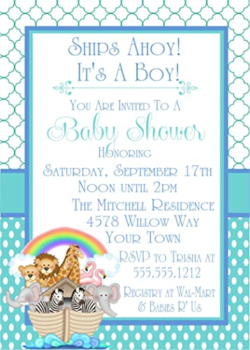Amazon Com Noah S Ark Baby Shower Invitations Handmade