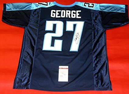 new arrival 12a59 29620 EDDIE GEORGE AUTOGRAPHED TENNESSEE TITANS JERSEY JSA at ...