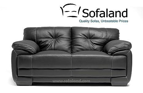 Lazio 2 Seater Bonded Leather Sofa Black Amazon Co Uk