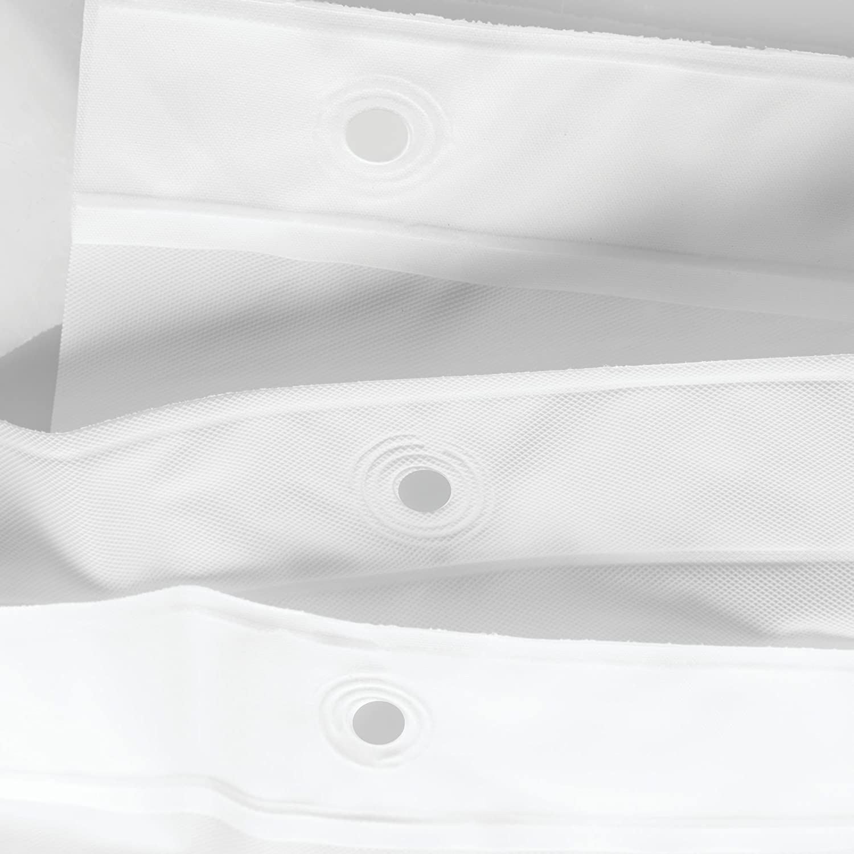 InterDesign 12054 Mildew-Resistant PEVA 3 Gauge Shower Liner-72 x 72 Inches Standard White
