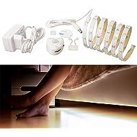 Led-bedlampenset met bewegingsmelder, nachtlampje, strip met bewegingssensor, warm wit, voor kinderen