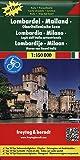 Freytag Berndt Autokarten, Lombardei - Mailand - Oberitalienische Seen, Autokarte 1:150.000 (freytag & berndt Auto + Freizeitkarten)