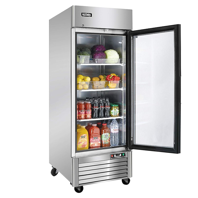 KITMA - Congelador de puerta vertical de cristal de 27 pulgadas ...