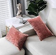 PHF Velvet Throw Pillow Covers 2-Pack 12