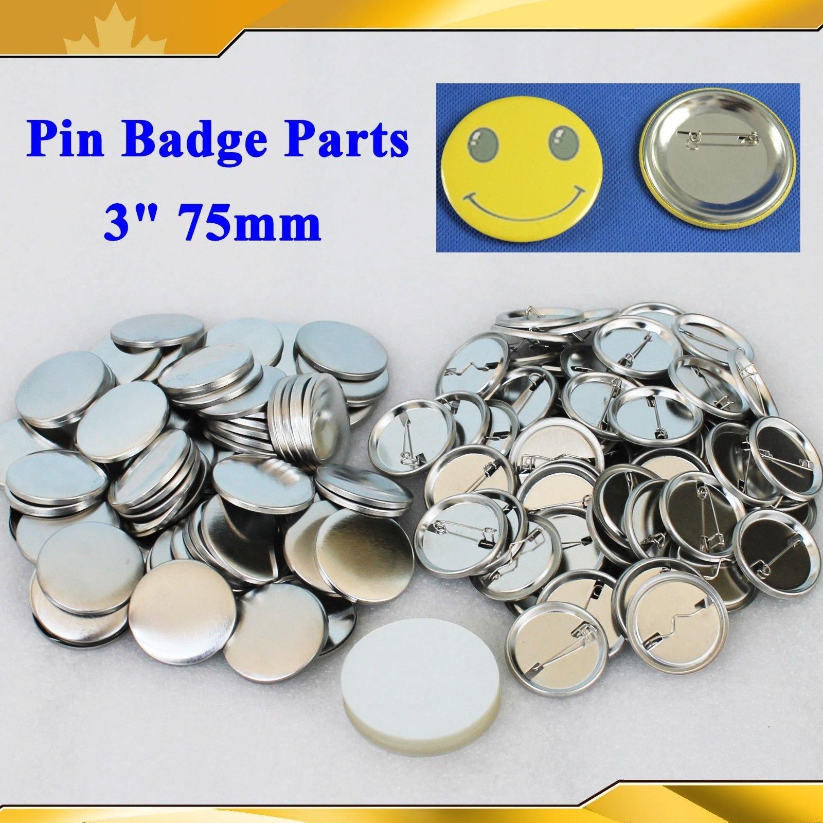 Asc365 Badge Button 3'' 75mm 100sets Pin Parts Supplies for Pro Maker Machine(item#015509)