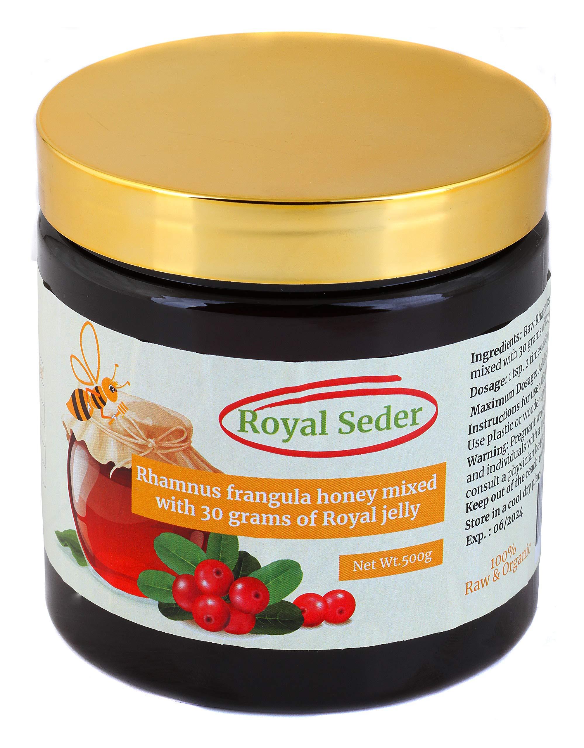 Hekma Center Raw Rhamnus Frangula- Buckthorn Honey Mixed with 30 Grams of Royal Jelly