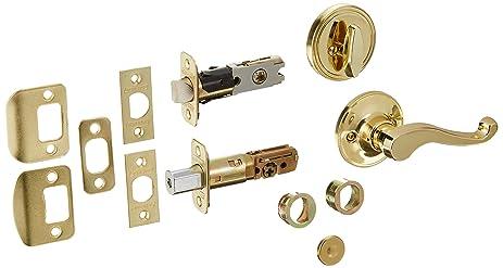 Schlage Dexter 1-3/8-in to 1-3/4-in Bright Brass Single Cylinder ...