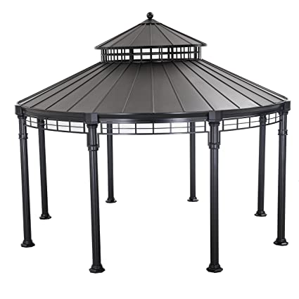 Sunjoy Buffalo 14u0027 x 14u0027 Round Top Heavy Duty Outdoor Patio Gazebo  sc 1 st  Amazon.com & Amazon.com : Sunjoy Buffalo 14u0027 x 14u0027 Round Top Heavy Duty Outdoor ...