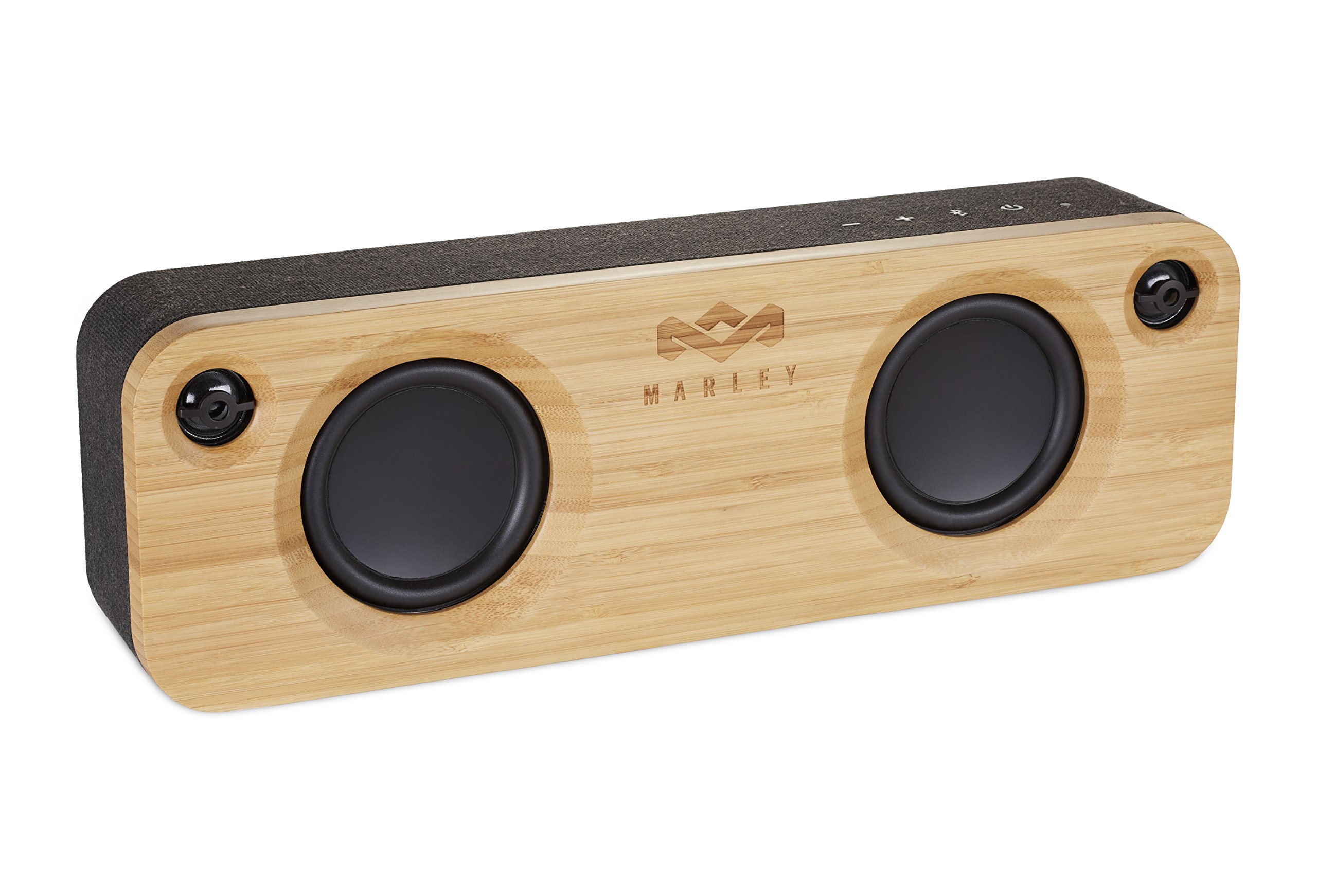 "House of Marley, Get Together Bluetooth Portable Audio System -  3.5"" Woofer & 1'' Tweeters, 30m Wireless Range, 8 hour Playtime,Built In Battery, Sustainably Crafted, EM-JA006SB Signature Black by House of Marley"
