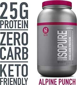 Polvos proteínicos bajos en carbohidratos de la marca Isopure ...