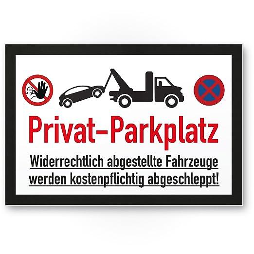 Privado Aparcamiento parkverbot - Letrero (Blanco y Negro ...