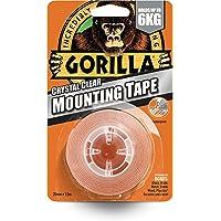 Gorilla Glue 3044101 Zware dubbelzijdige montageband, 25 mm x 1,5 m Helder