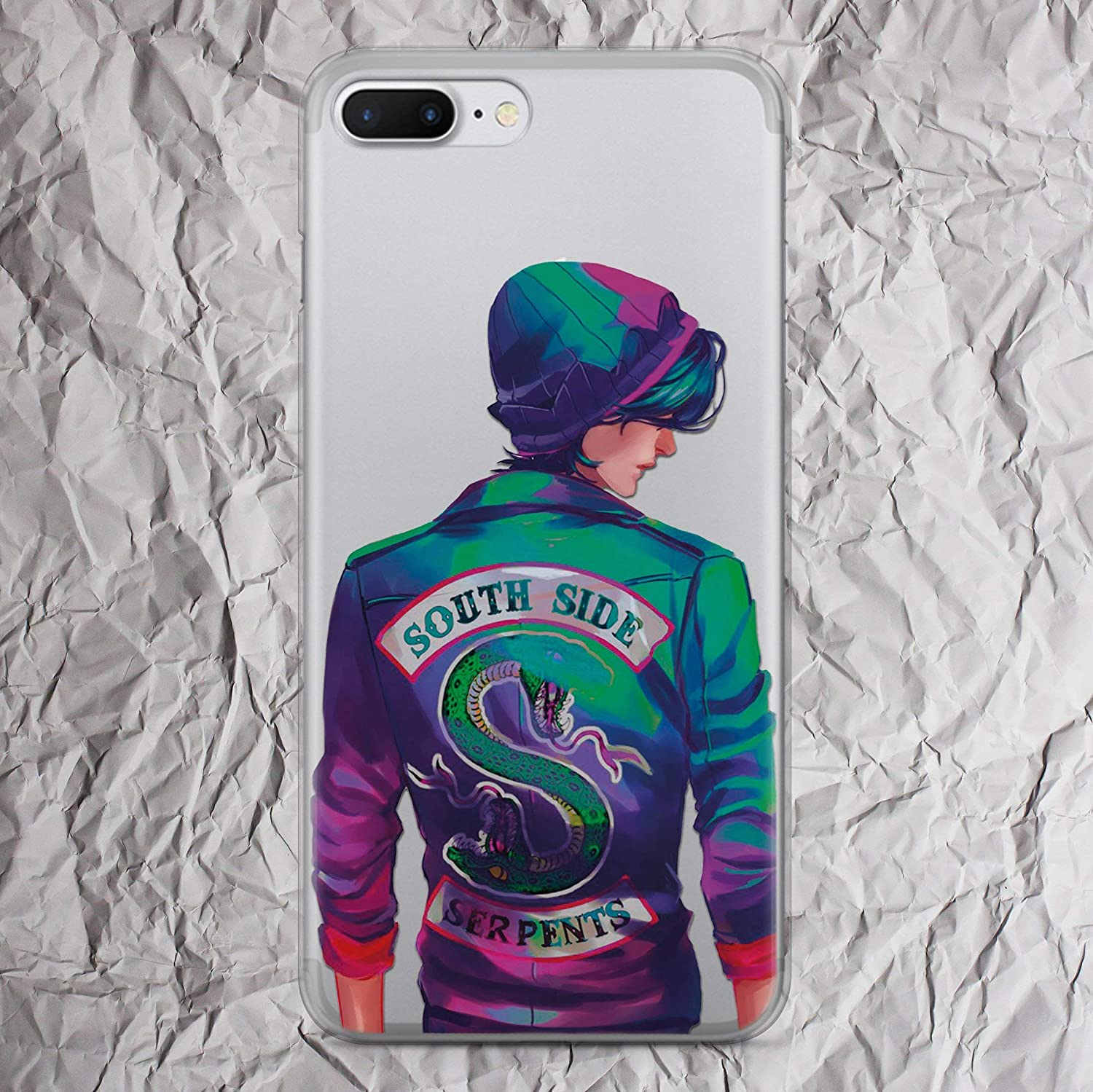 Riverdale Southside Serpents Jacket Shirt sweatshirt patch hoodie tshirt gifts print iPhone 7 8 6 6s plus X Xs Max Xr case for iphone 5 5s se 5se 4 4s clear silicone TPU cover
