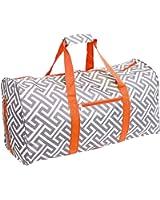 """Silverhooks Greek Key 22"""" Duffle Carry-On Travel Bag"""