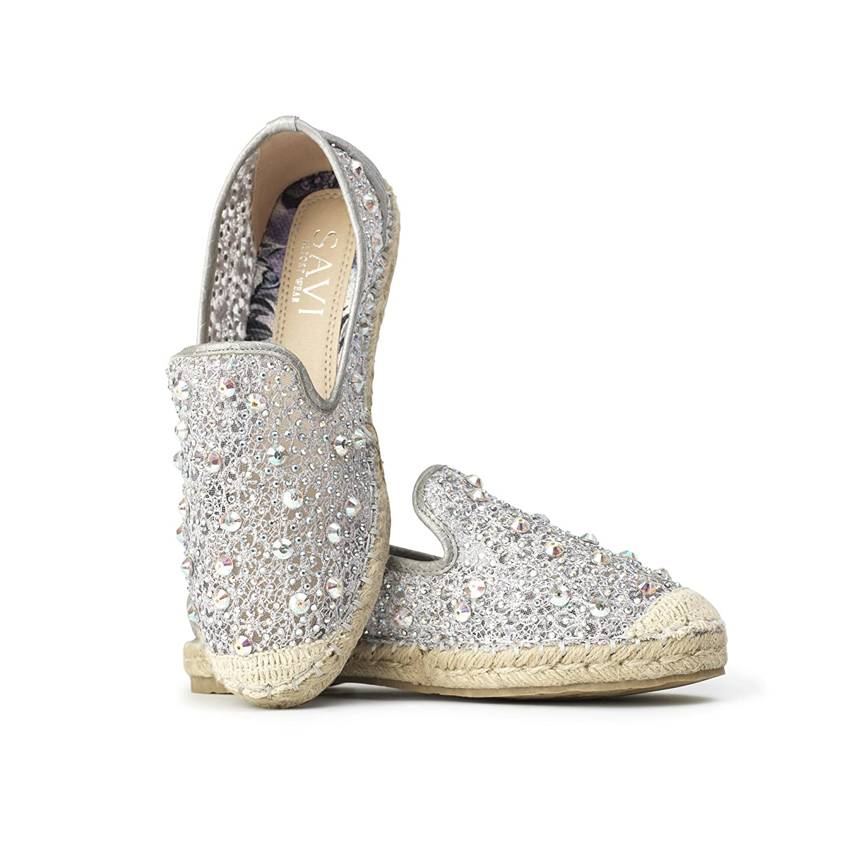 Savi Alessandra espadrille silver