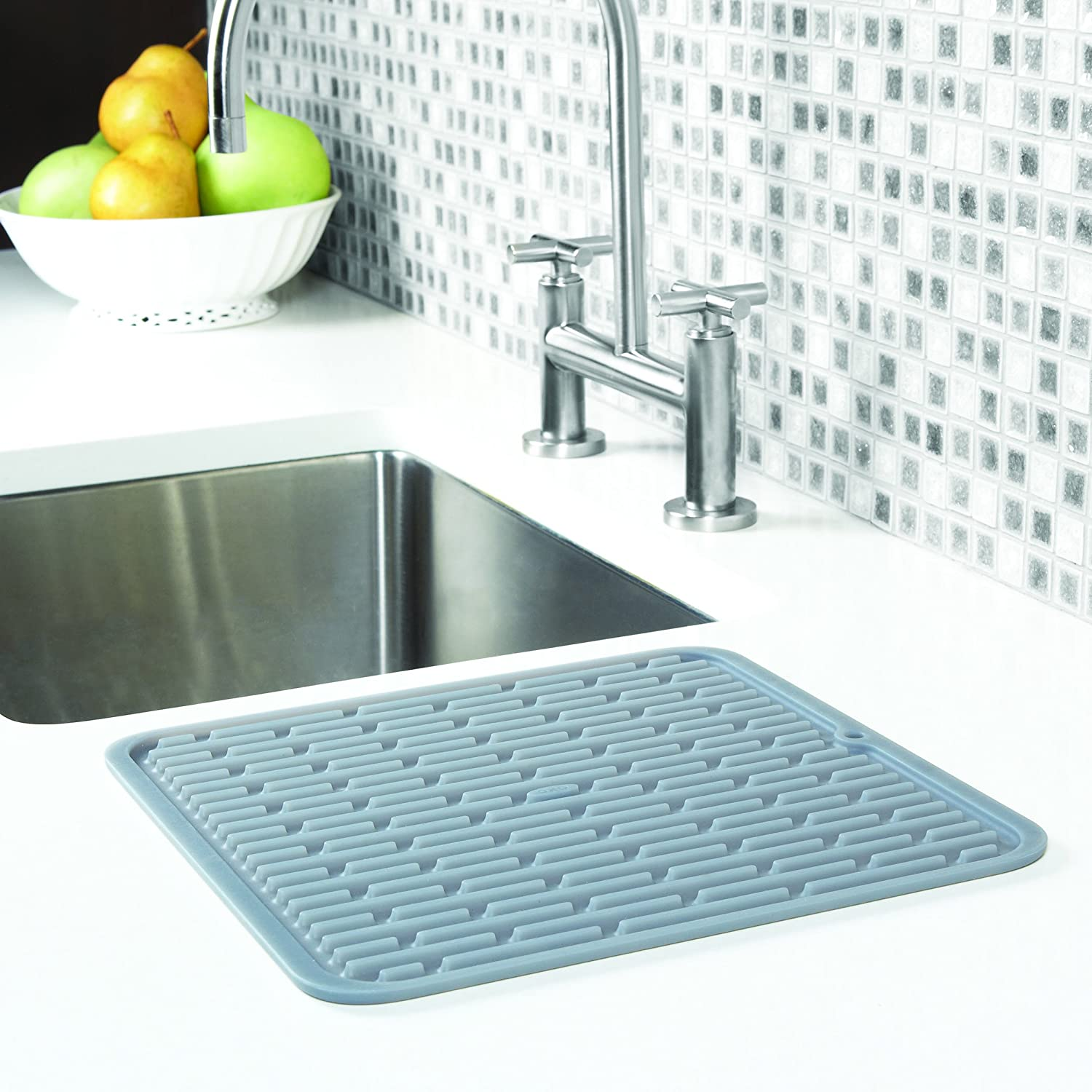 Amazon OXO Good Grips Silicone Drying Mat Square Dish Racks