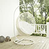 Amazon.com : Modway EEI-2273-GRY-WHI Hide Wicker Outdoor ...