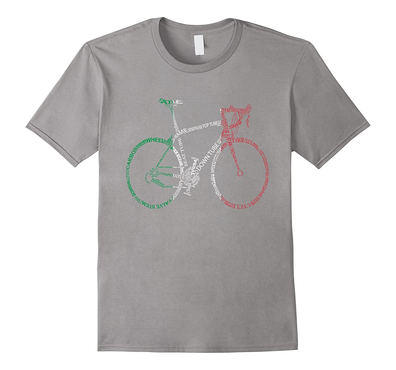 Bicycle Amazing anatomy tshirt - Road bike Italian version-TH - TEEHELEN