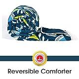 Divine Casa Polyester Comforter/Blanket/Quilt/Duvet Lightweight, All Weather Single Comforter, Blue - Geometric (110 GSM)