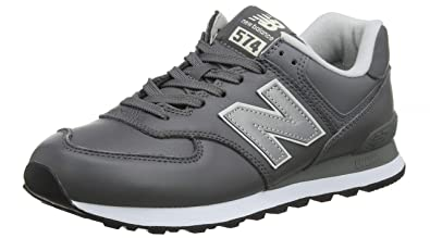 cheap for discount 78f8f 817f1 New Balance Men's 574 Leather Trainers, Grey