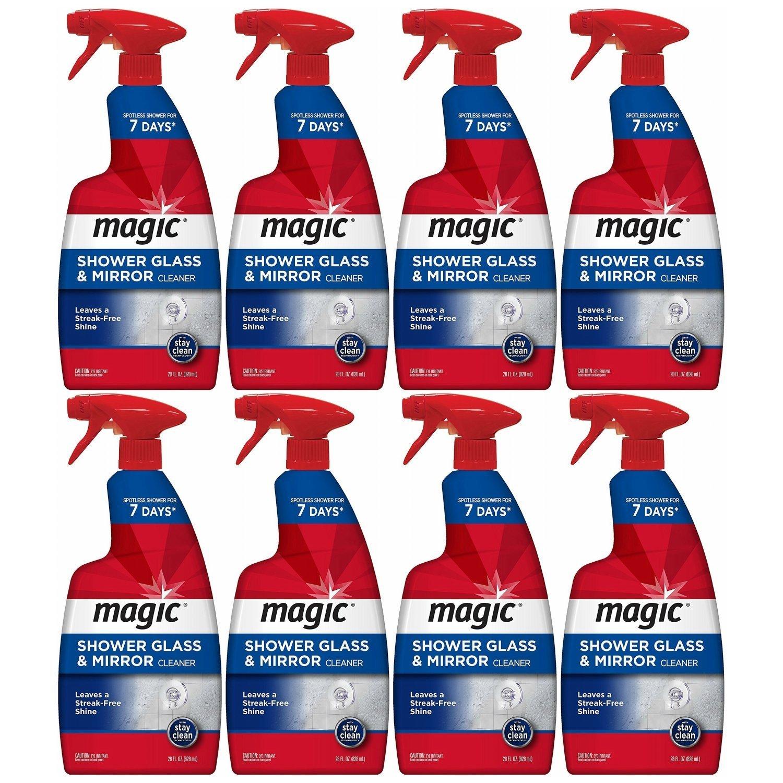 Magic Shower Glass & Mirror Cleaner Trigger, 28 fl oz, Pack of 8