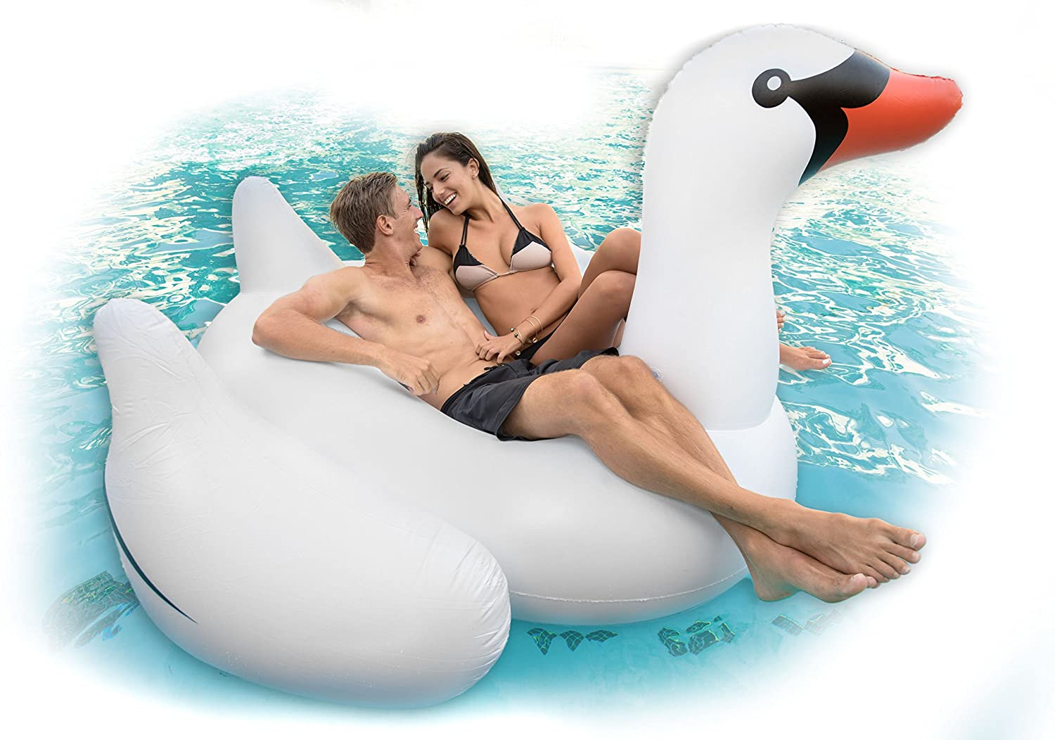 amazon com black swans sister giant inflatable swan pool float amazon com black swans sister giant inflatable swan pool float pump toys games