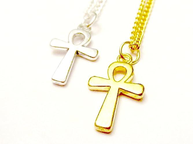Amazoncom Gold Ankh Necklace Ankh Necklace Silver Ankh Necklace